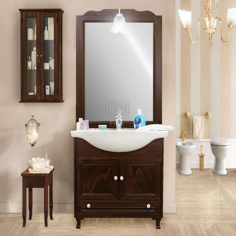 Accessori Bagno In Arte Povera.Arredo Bagno In Legno Arte Povera Per Piccoli Spazi Specchio Lavabo Base Le Chic Arredamenti