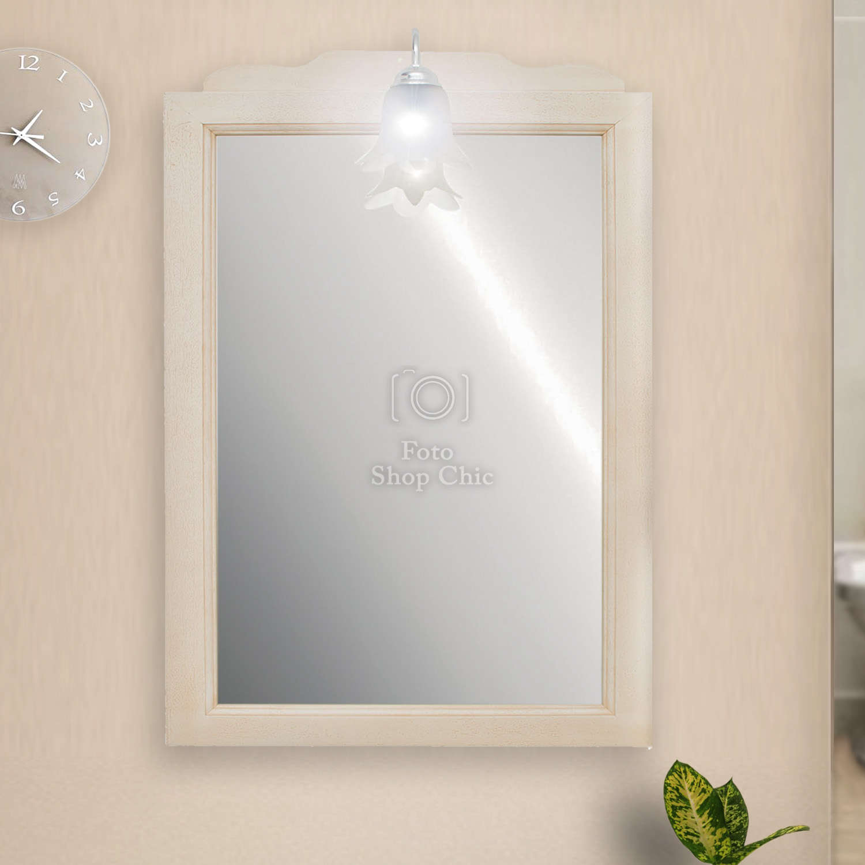 Specchio Da Bagno Vintage Con Punto Luce Specchiera Nuda Da Bagno Le Chic Arredamenti