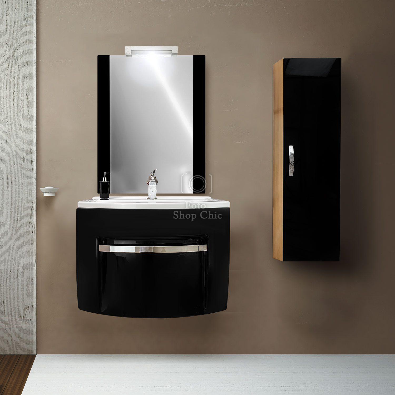 Mobili Da Bagno Moderni.Mobile Da Bagno Sospeso 70 Cm Moderno Con Specchio E Colonna Pensile