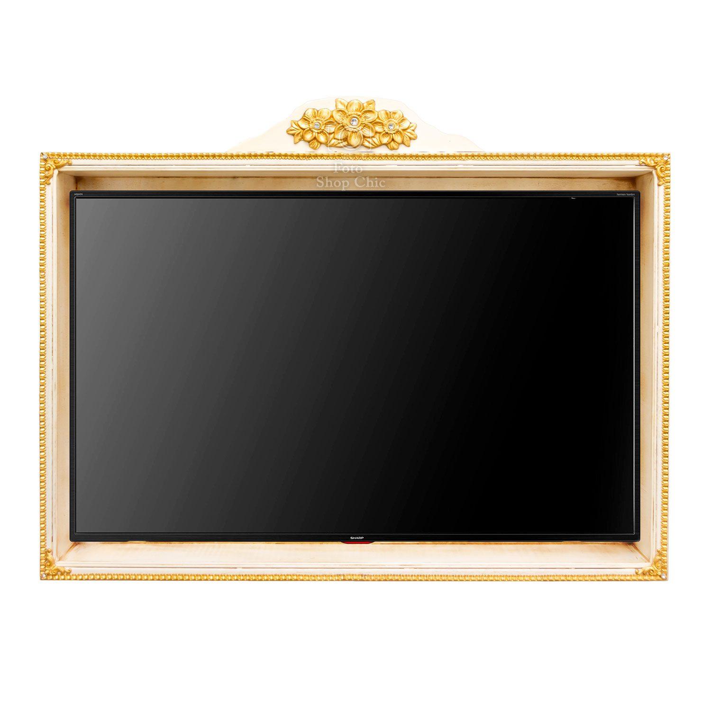 Mobile Televisore Manet Barocco cornice portalegno con Vano TVManet Mobile Barocco per Televisore cornice portalegno con Vano TV