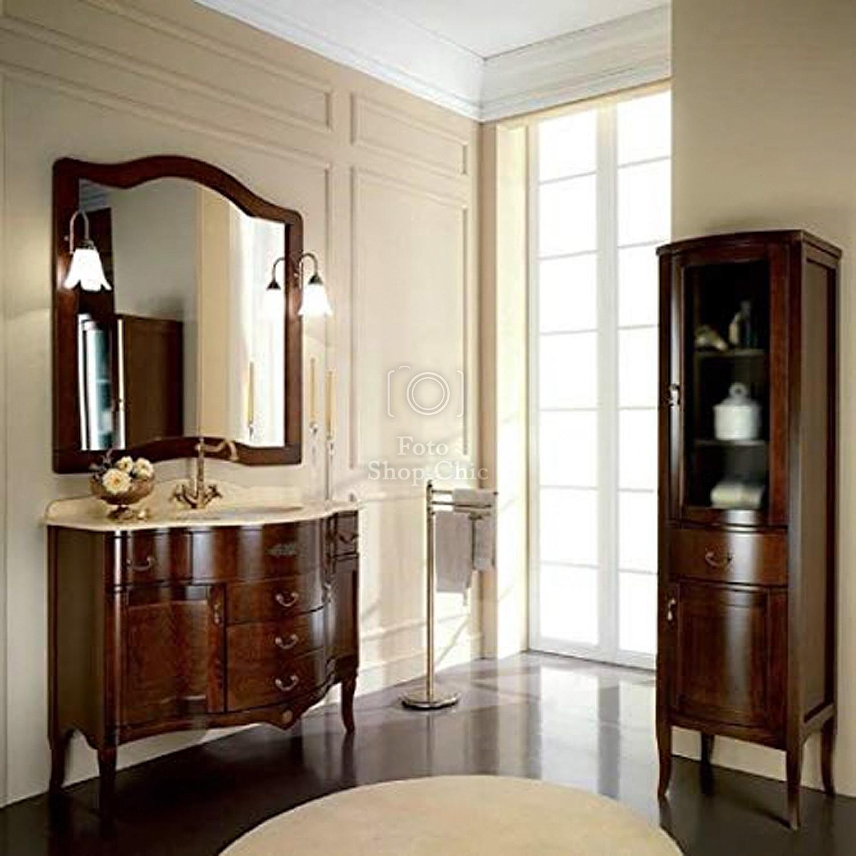 Accessori Bagno In Marmo.Arredo Bagno London Classico Impero Con Top In Marmo Crema Le Chic Arredamenti