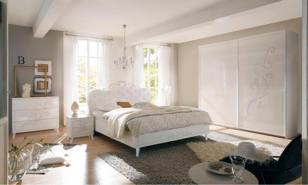 Camera Da Letto Completa In Stile Contemporaneo Bianco Frassino Le Chic Arredamenti