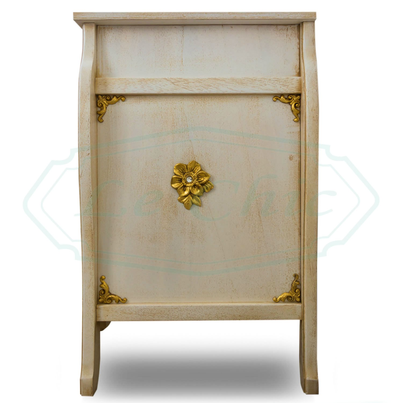 Porta Tv Foglia Oro.Mobile Porta Tv In Stile Barocco Avorio Veneziano Con Decori Oro