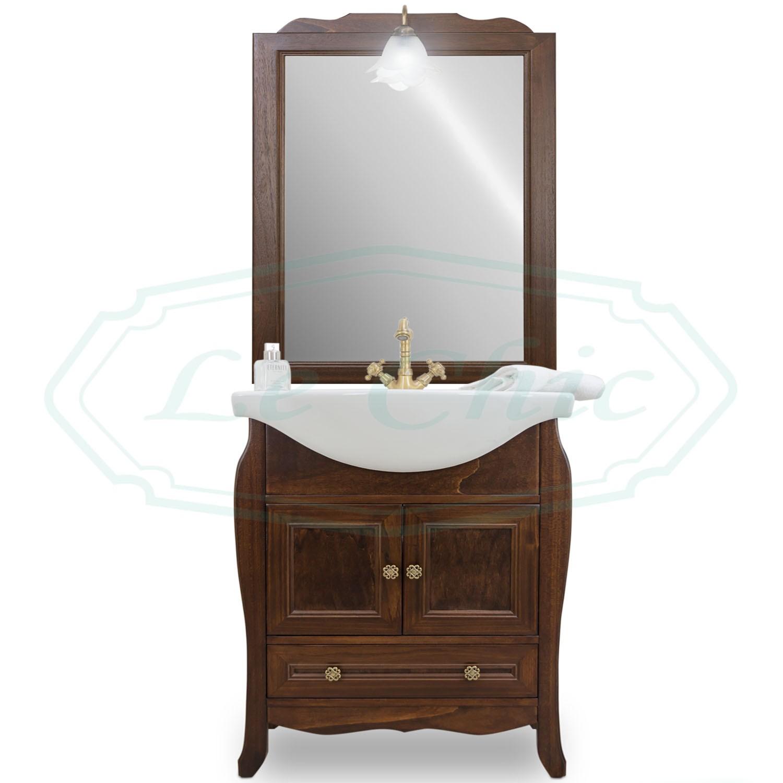Mobile Specchio Da Bagno.Mobile Bagno Arte Povera 65cm Con Specchio Le Chic Arredamenti