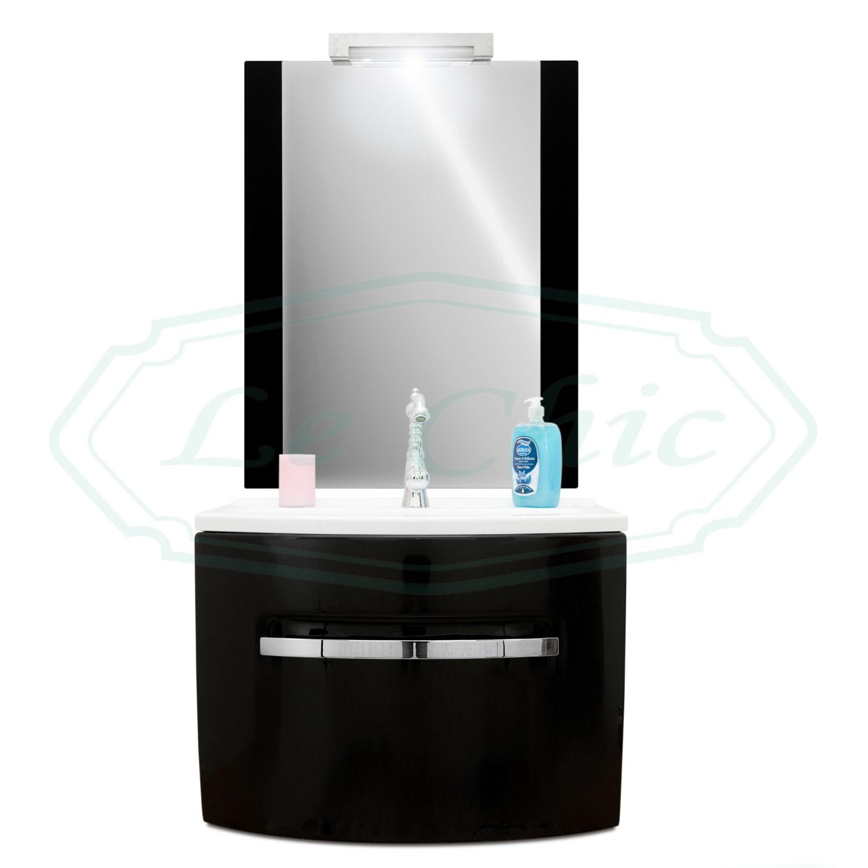 Mobile Bagno Da 70 Cm.Mobile Da Bagno Sospeso 70 Cm Moderno Con Specchio Le Chic