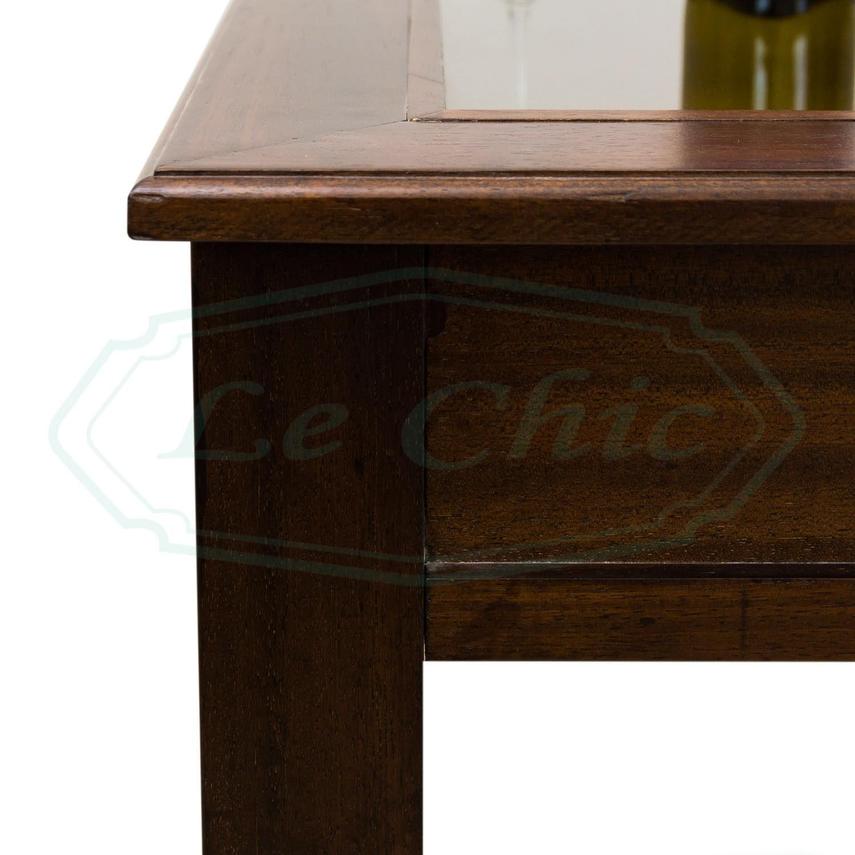 Tavolino Da Salotto Arte Povera Prezzi.Tavolino Rettangolare Da Salotto Classico Noce Piano Vetro