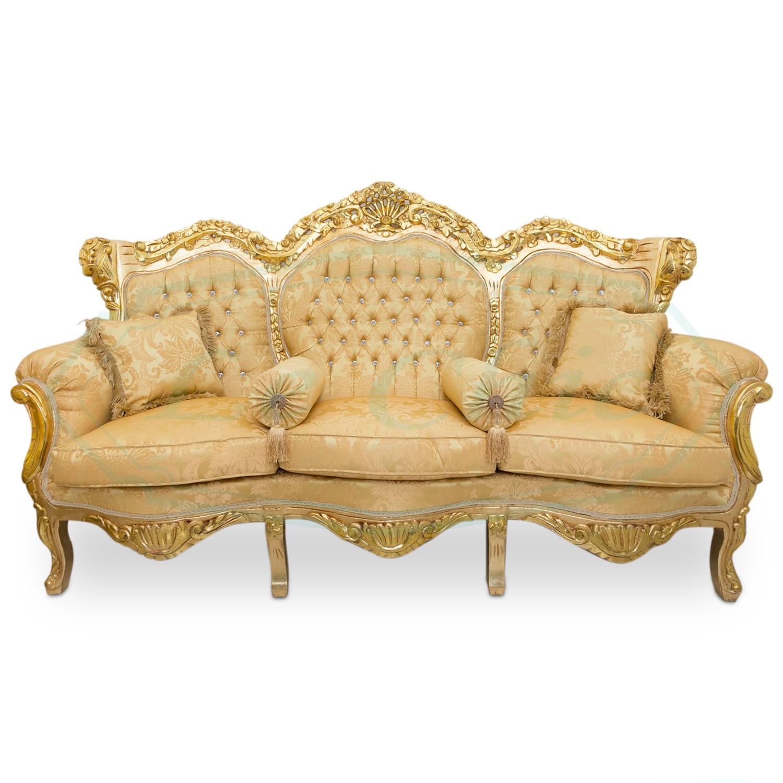 Set Completo Divano Con Poltrone E Tavolino In Stile Barocco Rococo Le Chic Arredamenti