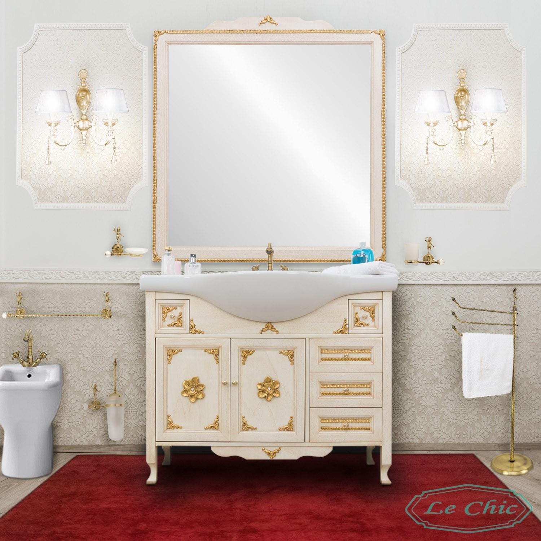 Accessori Bagno Stile Classico.Arredo Bagno Stile Barocco Classico Impero Foglia Oro Le Chic Arredamenti