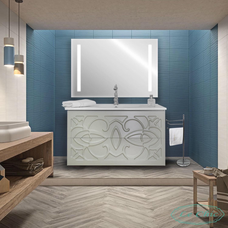 Armadietto Bagno Moderno arredo bagno sospeso contemporaneo 90 cm moderno doppio cassetto