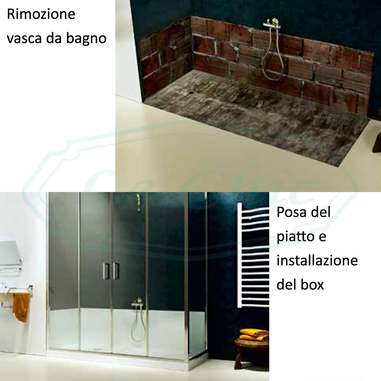 Doccia Plus 170x70x187 5 Kit Sostituzione Vasca Da Bagno Le Chic Arredamenti