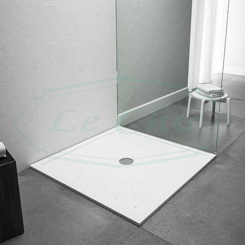 Piatto Doccia A Filo Pavimento In Acrilico Quadrato 80x80 Le Chic Arredamenti