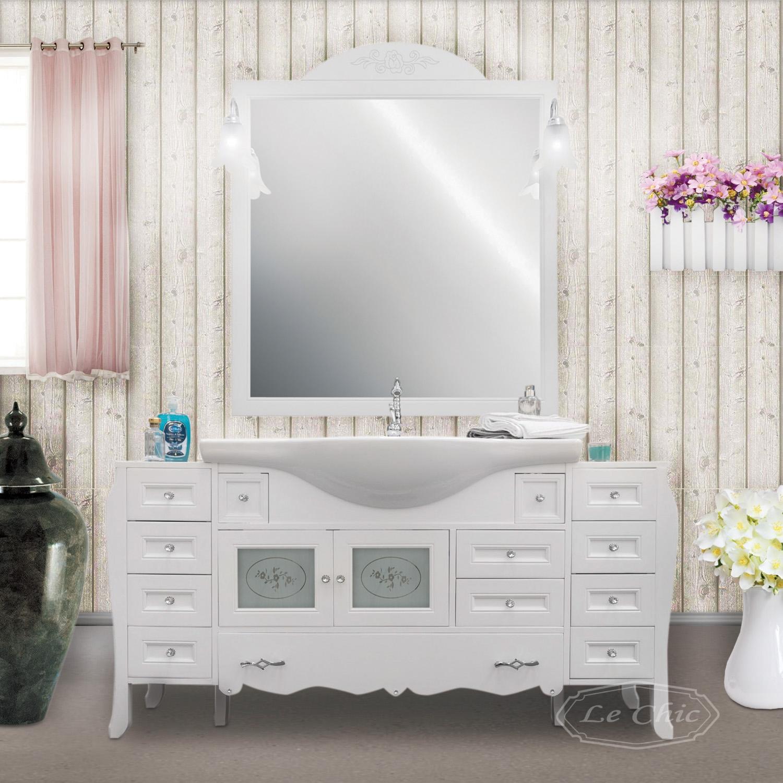 Arredo Bagno Shabby Chic mobile bagno shabby chic 160 cm con specchiera
