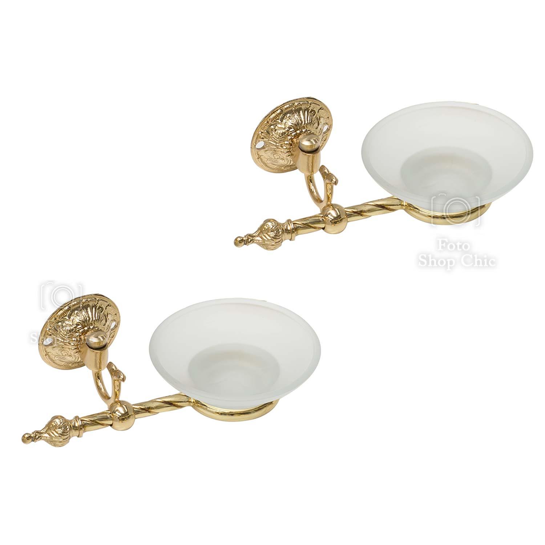 Set Accessori Da Bagno 8 Pezzi Stile Barocco Oro Le Chic Arredamenti