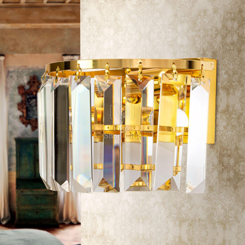 Applique da parete in stile barocco con cristalli tipo Swarovski